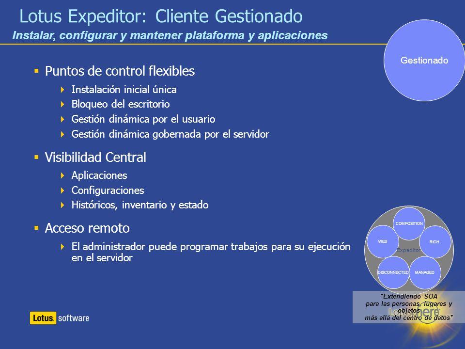 Lotus Expeditor: Cliente Gestionado