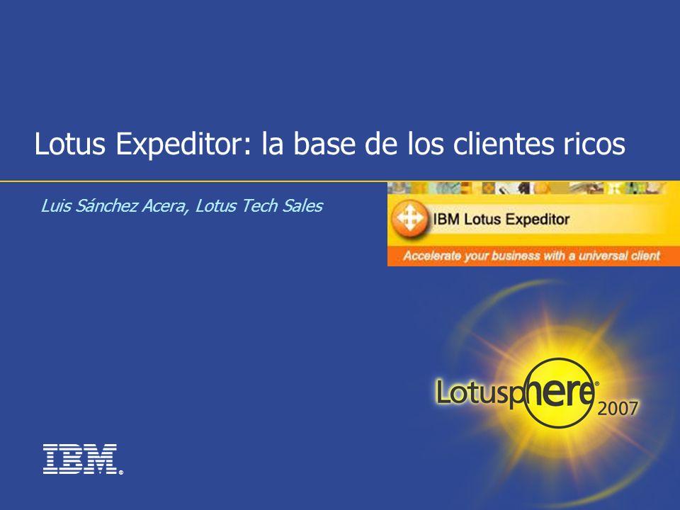 Lotus Expeditor: la base de los clientes ricos