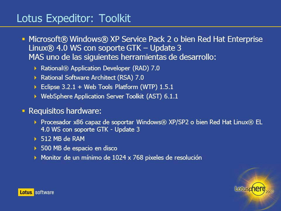 Lotus Expeditor: Toolkit