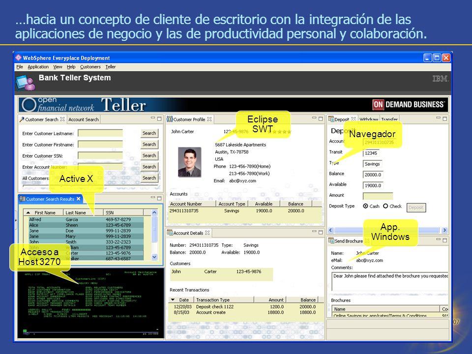 …hacia un concepto de cliente de escritorio con la integración de las aplicaciones de negocio y las de productividad personal y colaboración.
