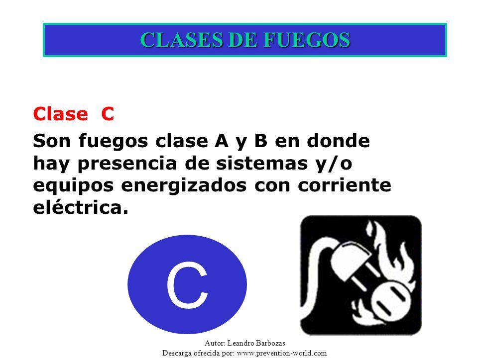 C CLASES DE FUEGOS Clase C