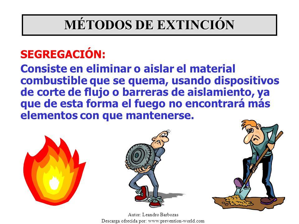 MÉTODOS DE EXTINCIÓN SEGREGACIÓN: