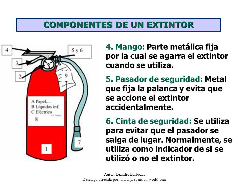 COMPONENTES DE UN EXTINTOR