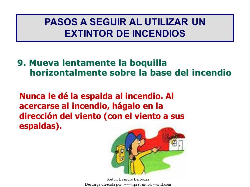 PASOS A SEGUIR AL UTILIZAR UN EXTINTOR DE INCENDIOS