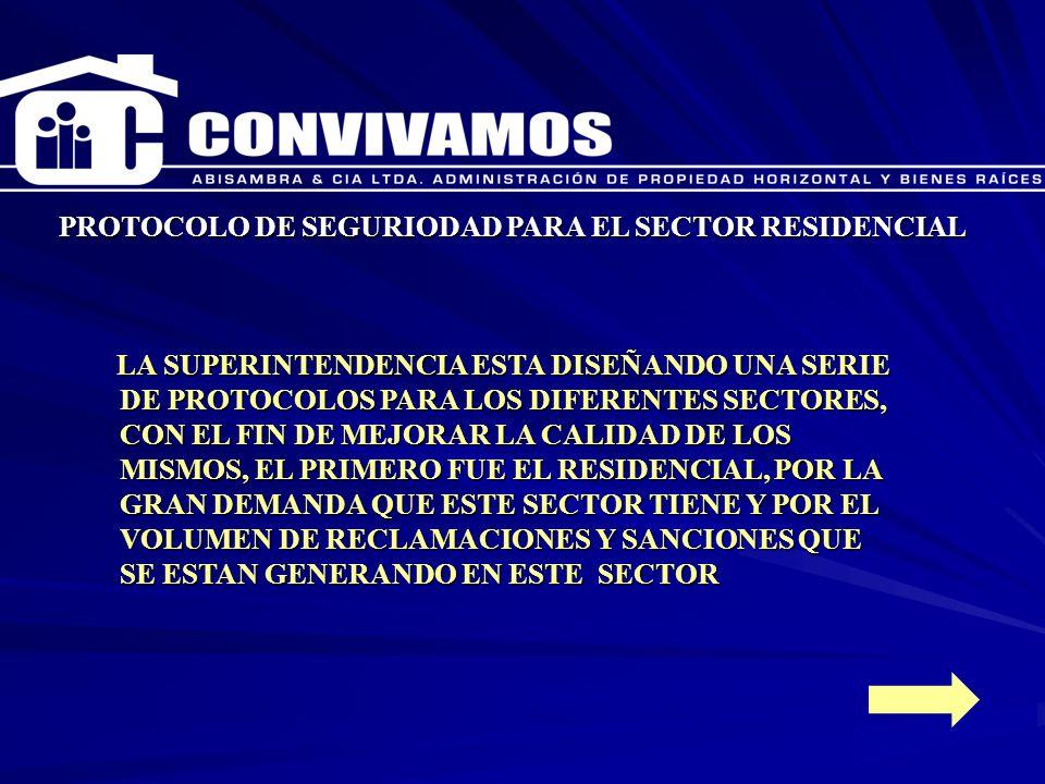 PROTOCOLO DE SEGURIODAD PARA EL SECTOR RESIDENCIAL