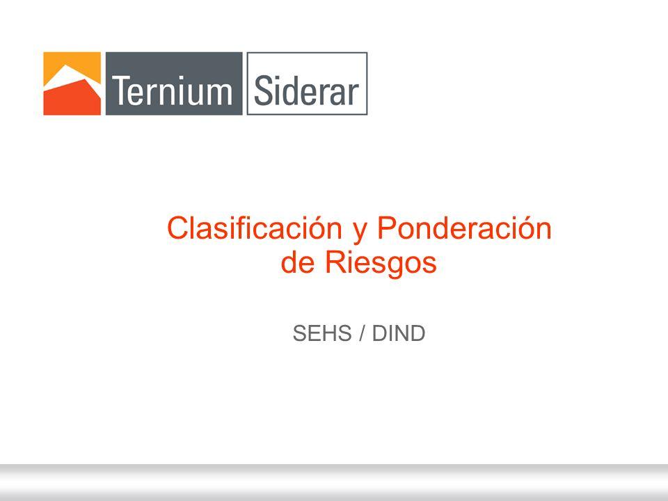 Clasificación y Ponderación de Riesgos SEHS / DIND
