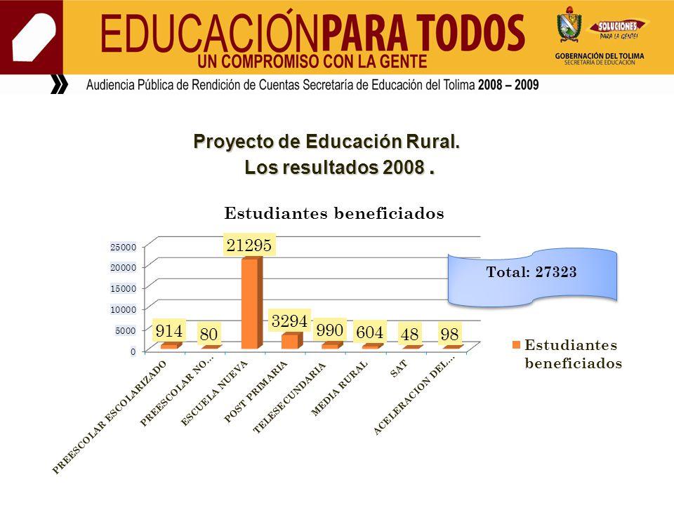 Proyecto de Educación Rural.