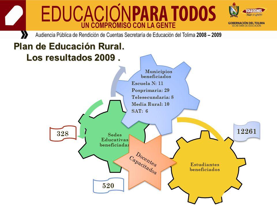 Plan de Educación Rural. Los resultados 2009 .