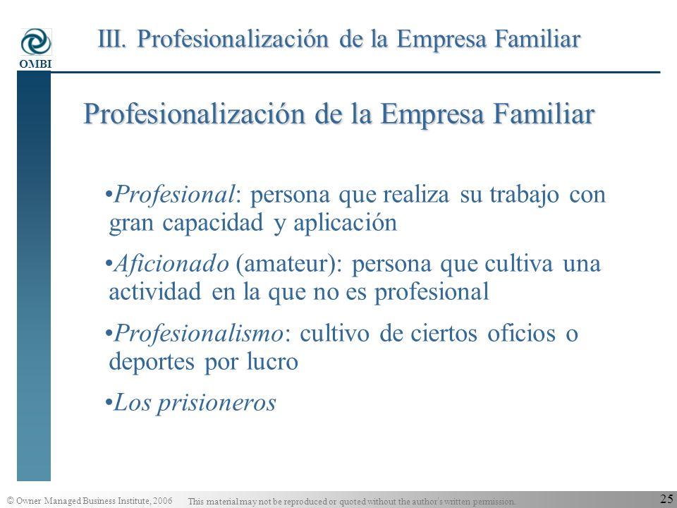 Profesionalización de la Empresa Familiar