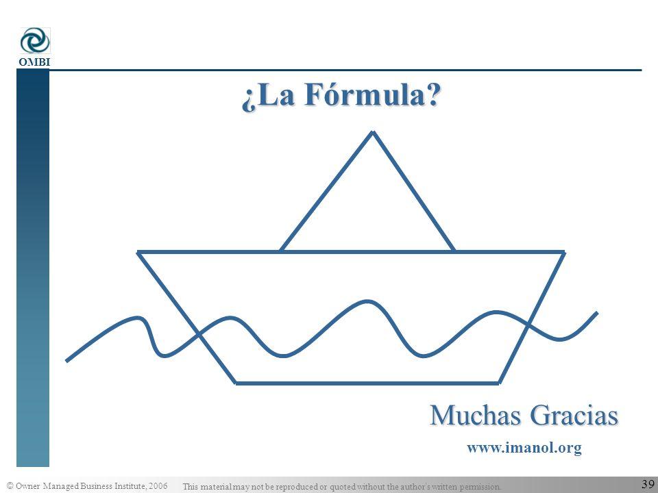 ¿La Fórmula Muchas Gracias www.imanol.org