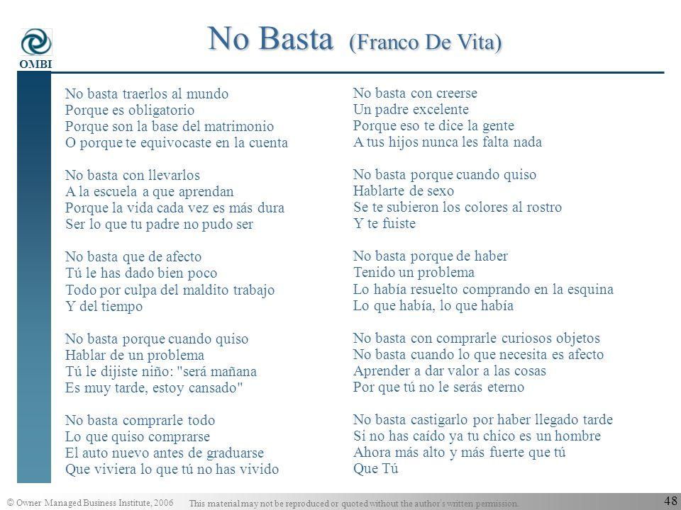 No Basta (Franco De Vita)