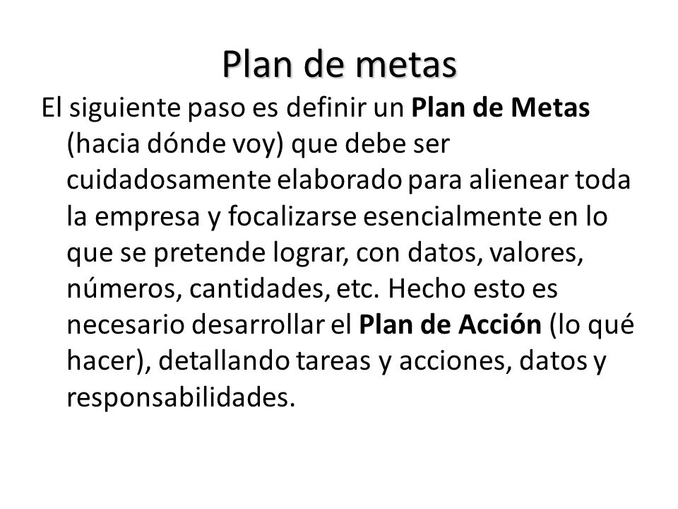Plan de metas