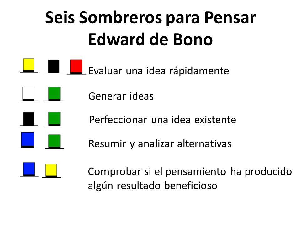 Seis Sombreros para Pensar Edward de Bono
