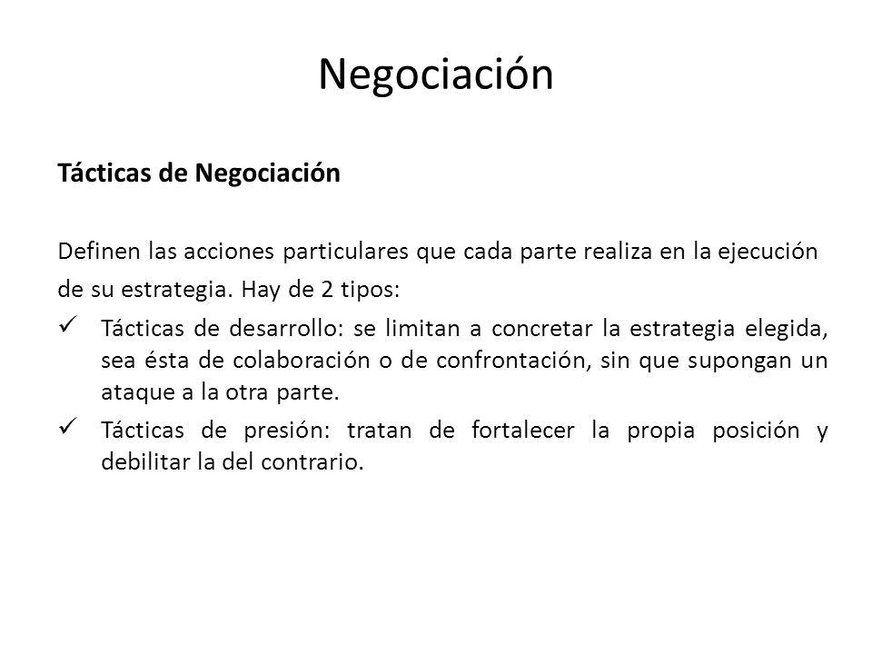 Negociación Tácticas de Negociación