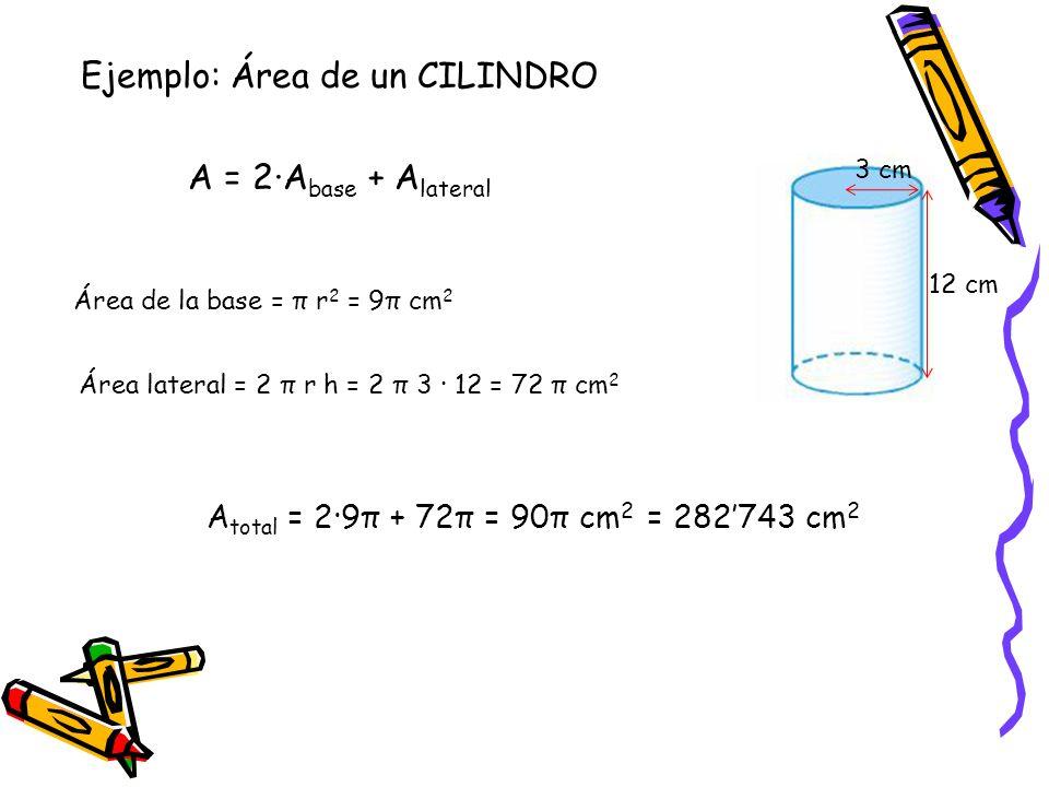 Ejemplo: Área de un CILINDRO A = 2·Abase + Alateral