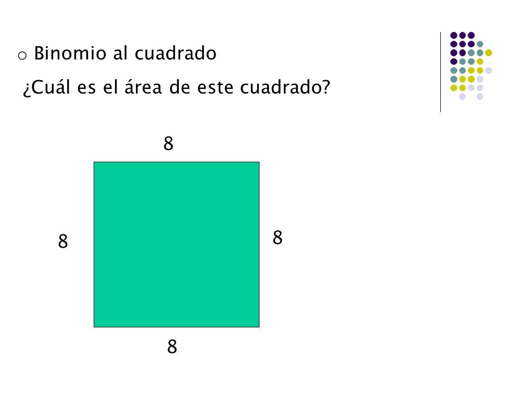 ¿Cuál es el área de este cuadrado