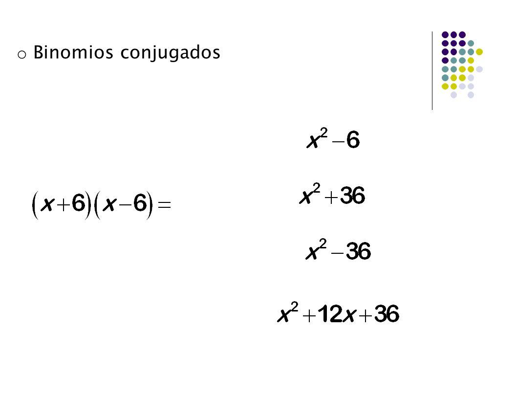 Binomios conjugados ax n a n
