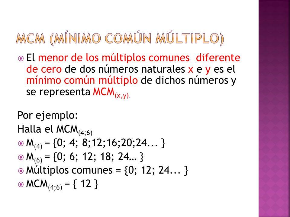 MCM (mínimo común múltiplo)