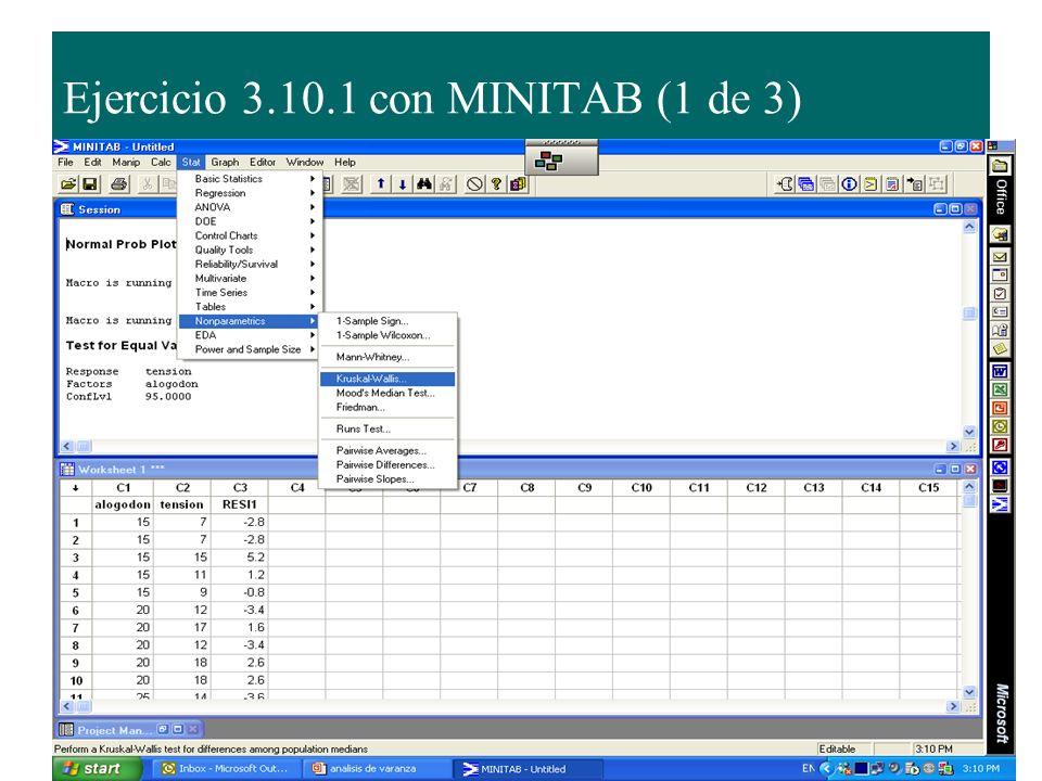 Ejercicio 3.10.1 con MINITAB (1 de 3)