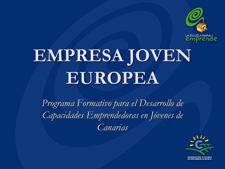 EMPRESA JOVEN EUROPEA Programa Formativo para el Desarrollo de Capacidades Emprendedoras en Jóvenes de Canarias.
