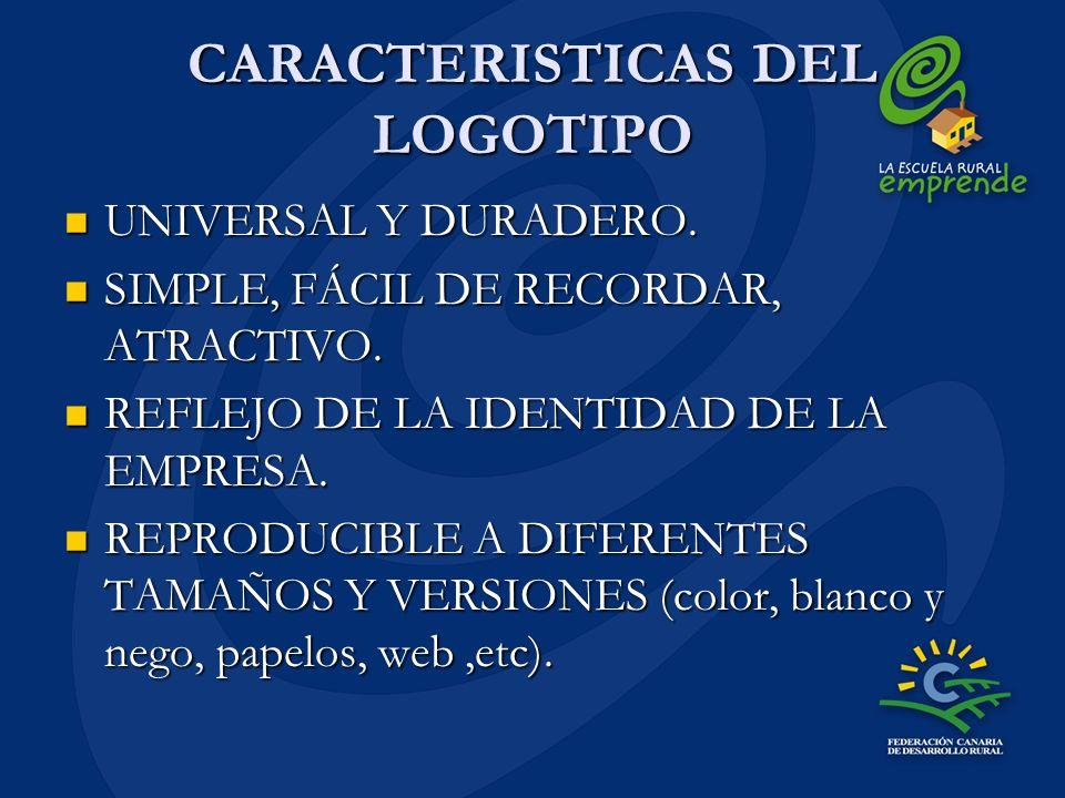 CARACTERISTICAS DEL LOGOTIPO