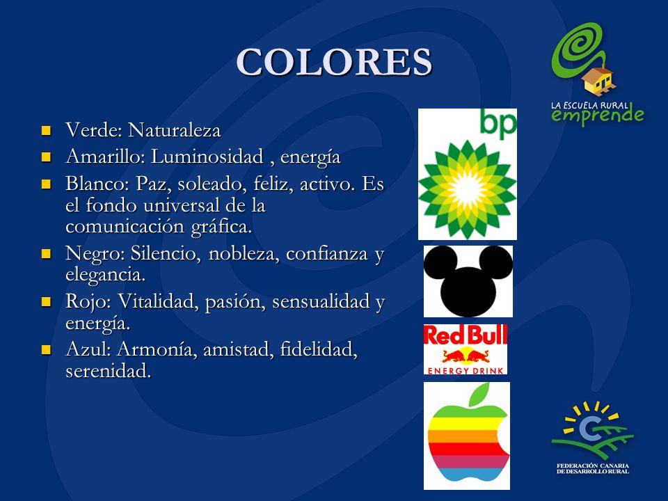 COLORES Verde: Naturaleza Amarillo: Luminosidad , energía