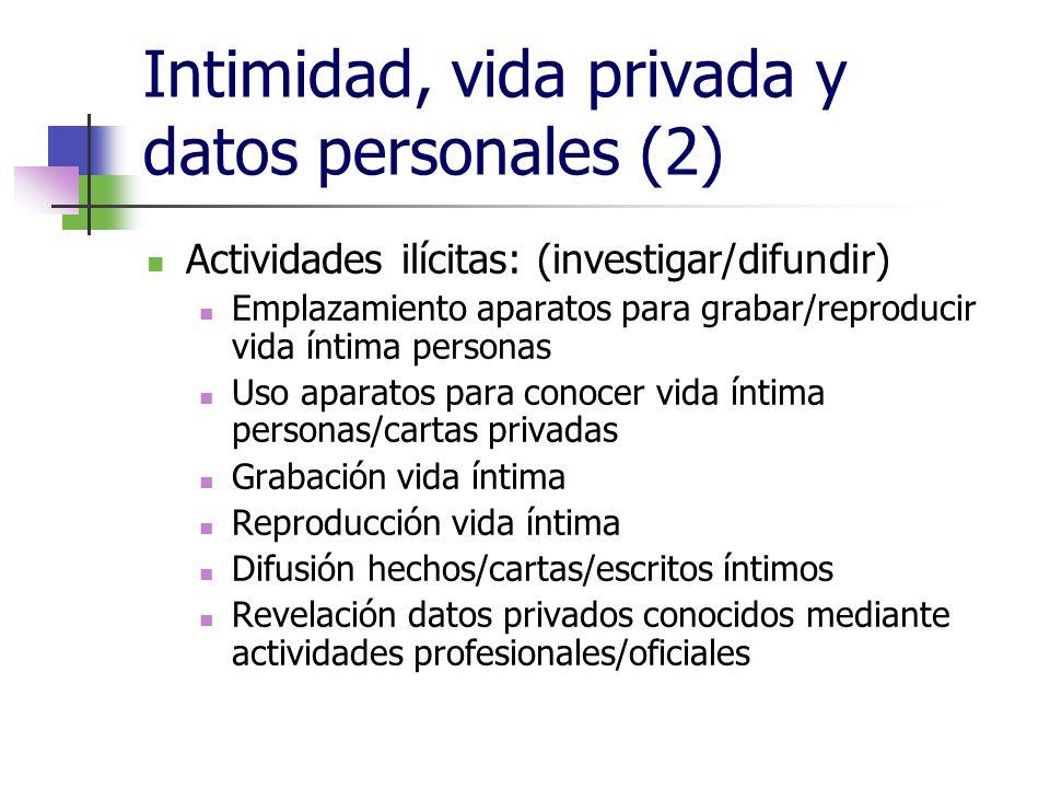 Intimidad, vida privada y datos personales (2)