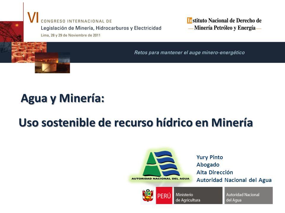 Uso sostenible de recurso hídrico en Minería