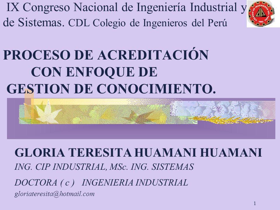 IX Congreso Nacional de Ingeniería Industrial y de Sistemas