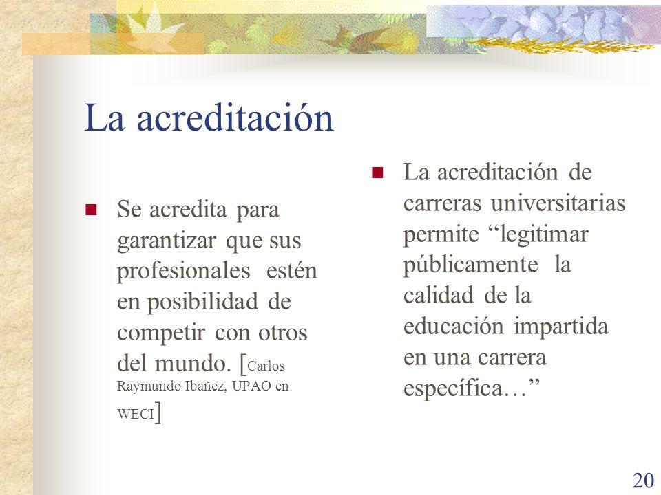 La acreditación