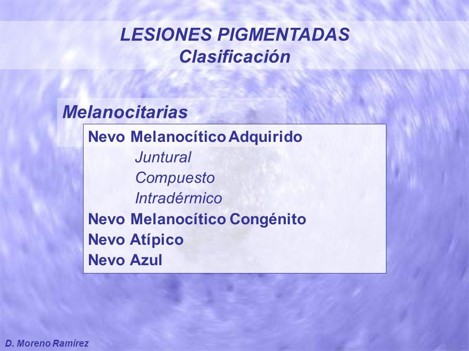 LESIONES PIGMENTADAS Clasificación