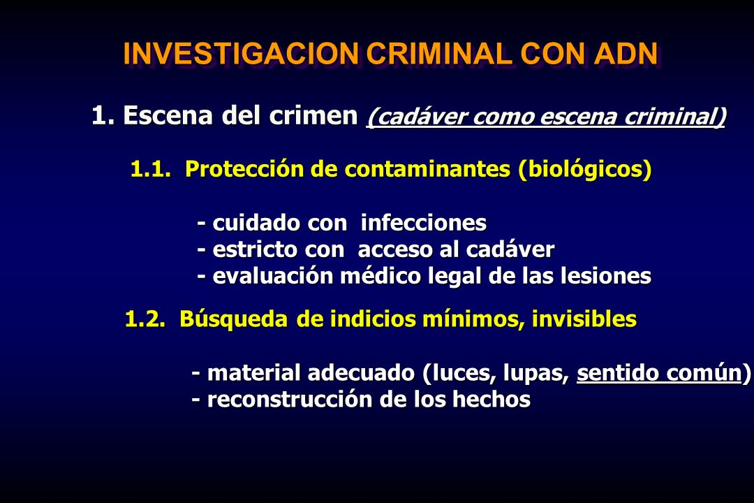 INVESTIGACION CRIMINAL CON ADN