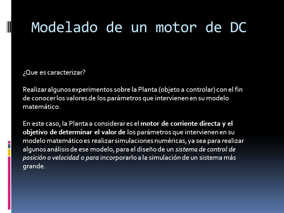 Modelado de un motor de DC
