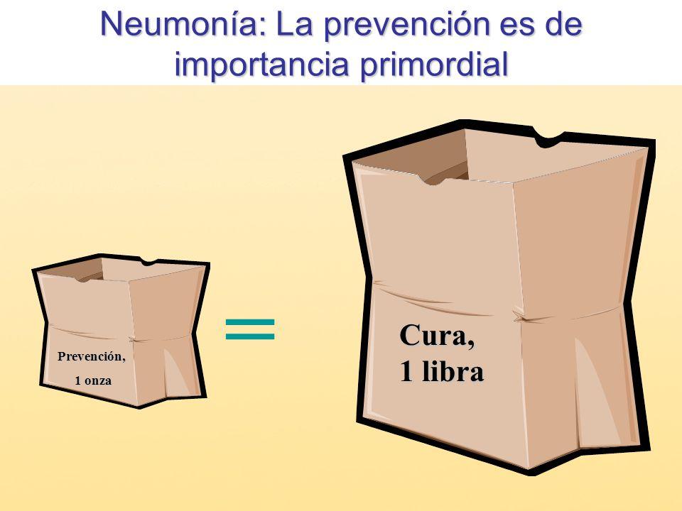 Neumonía: La prevención es de importancia primordial