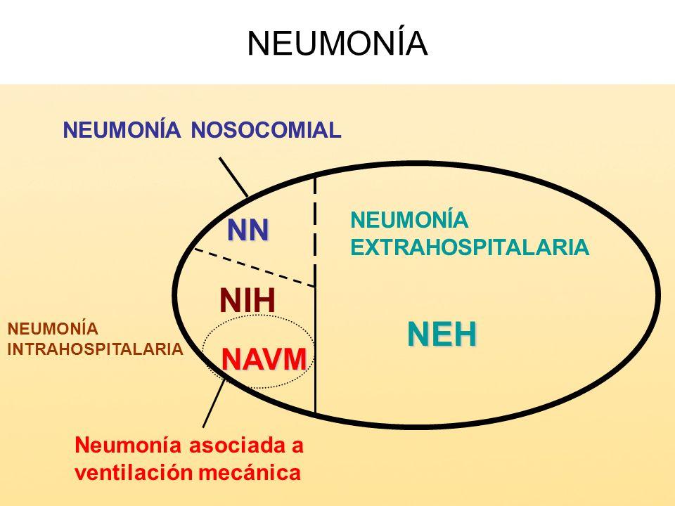 NEUMONÍA NIH NEH NN NAVM NEUMONÍA NOSOCOMIAL