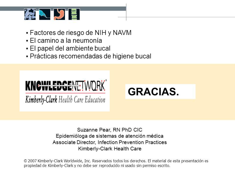 GRACIAS. Factores de riesgo de NIH y NAVM El camino a la neumonía