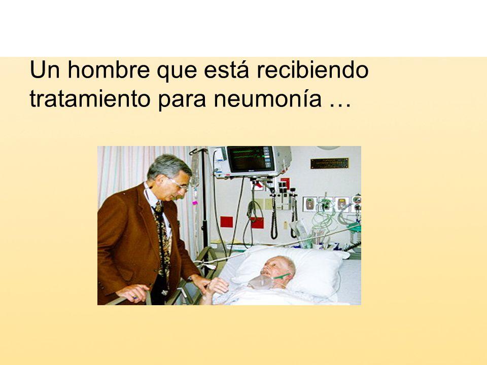 Un hombre que está recibiendo tratamiento para neumonía …
