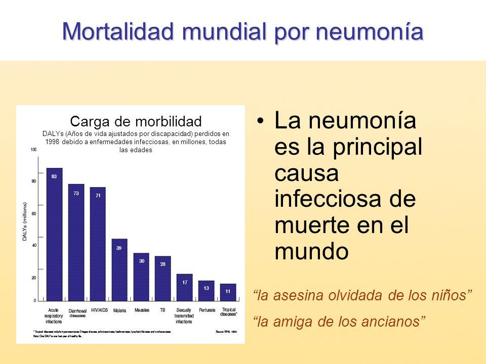 Mortalidad mundial por neumonía