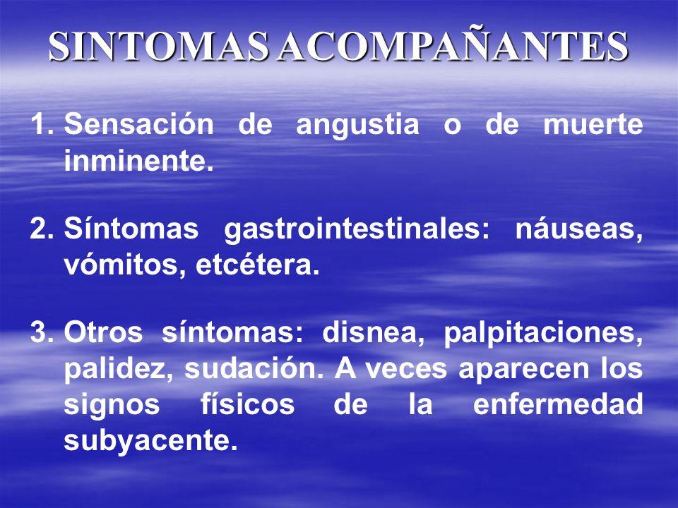 SINTOMAS ACOMPAÑANTES