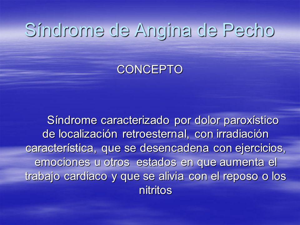 Síndrome de Angina de Pecho