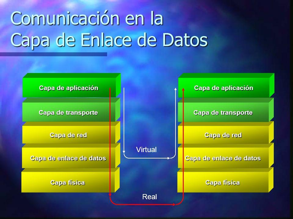 Comunicación en la Capa de Enlace de Datos