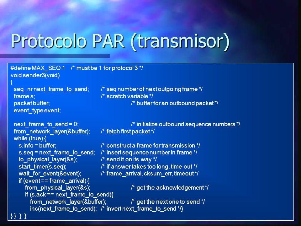 Protocolo PAR (transmisor)
