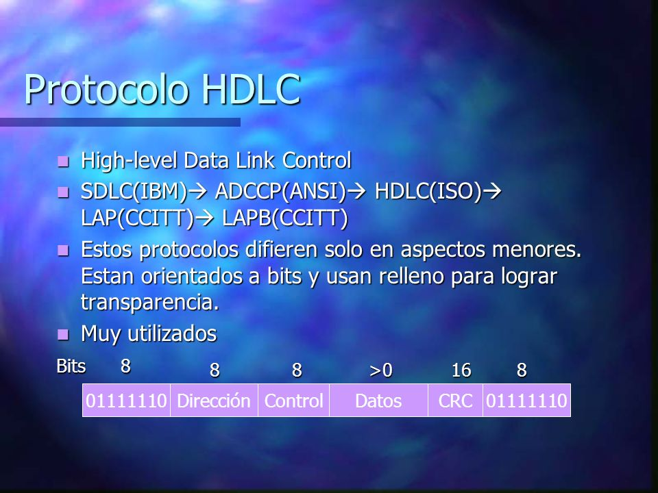Protocolo HDLC High-level Data Link Control