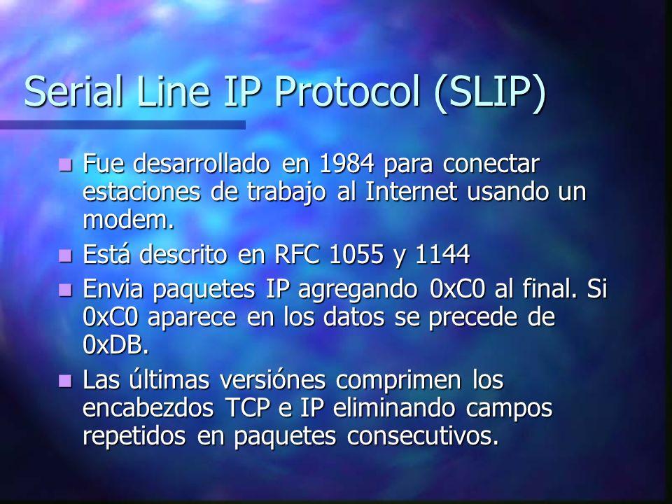 Serial Line IP Protocol (SLIP)