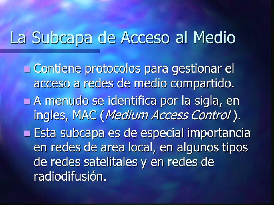 La Subcapa de Acceso al Medio