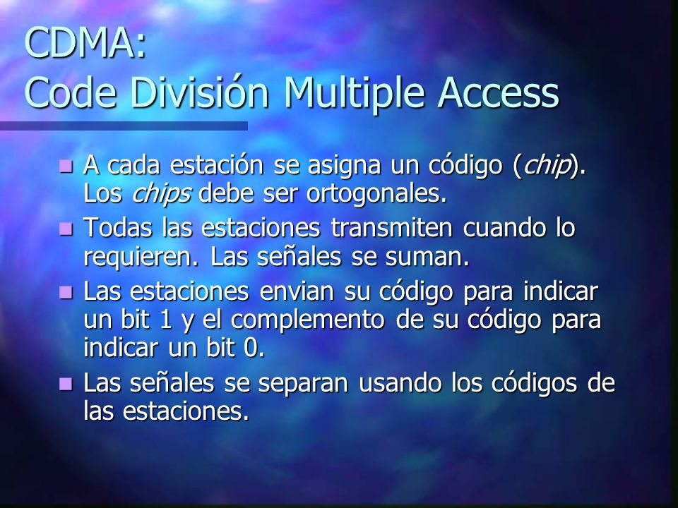 CDMA: Code División Multiple Access