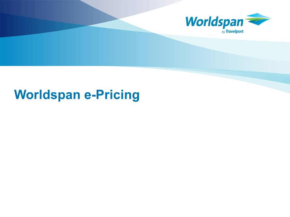 Worldspan e-Pricing