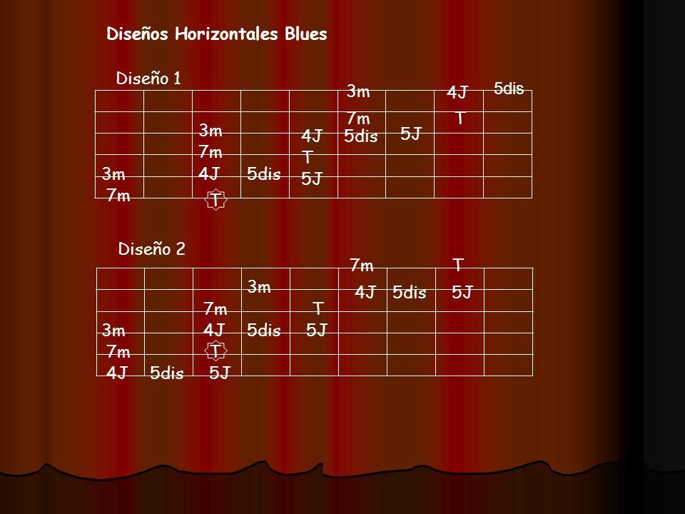 Diseños Horizontales Blues