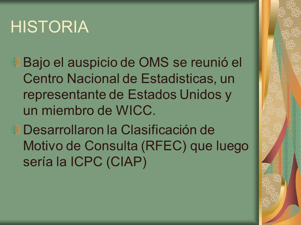 HISTORIA Bajo el auspicio de OMS se reunió el Centro Nacional de Estadisticas, un representante de Estados Unidos y un miembro de WICC.
