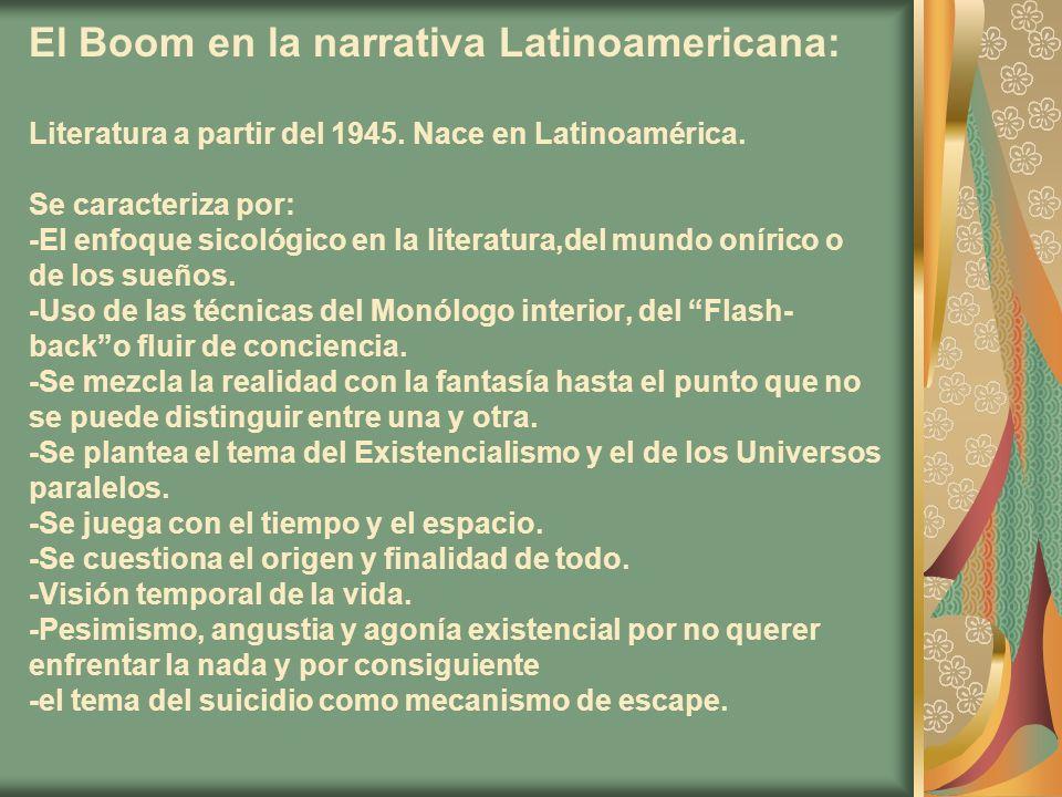 El Boom en la narrativa Latinoamericana: Literatura a partir del 1945